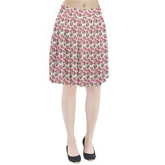 Gorgeous Pink Flower Pattern Pleated Skirt by Brittlevirginclothing
