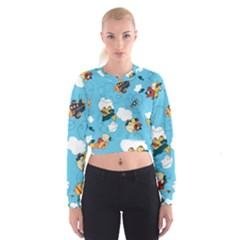 Bear Aircraft Women s Cropped Sweatshirt by AnjaniArt