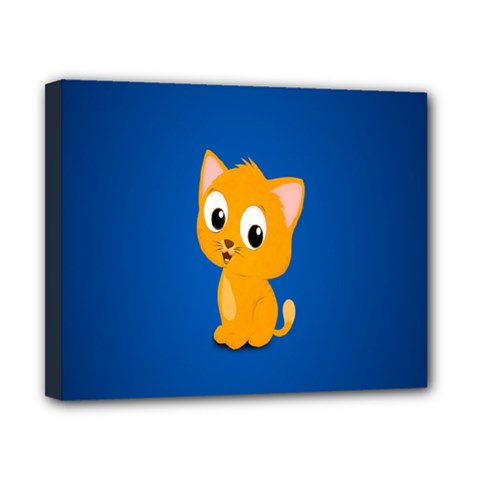 Cute Cat Canvas 10  X 8  by AnjaniArt