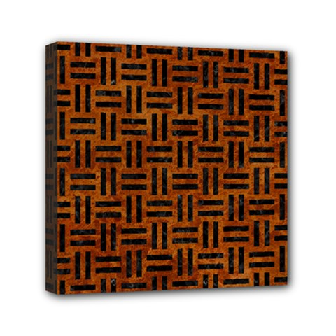 WOV1 BK-BR MARBLE (R) Mini Canvas 6  x 6  by trendistuff