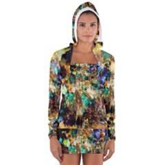 Abstract Digital Art Women s Long Sleeve Hooded T-shirt by Zeze