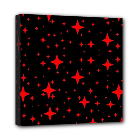 Bright Red Stars In Space Mini Canvas 8  X 8  by Costasonlineshop