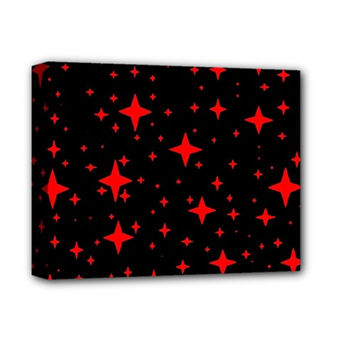 Bright Red Stars In Space Deluxe Canvas 14  X 11