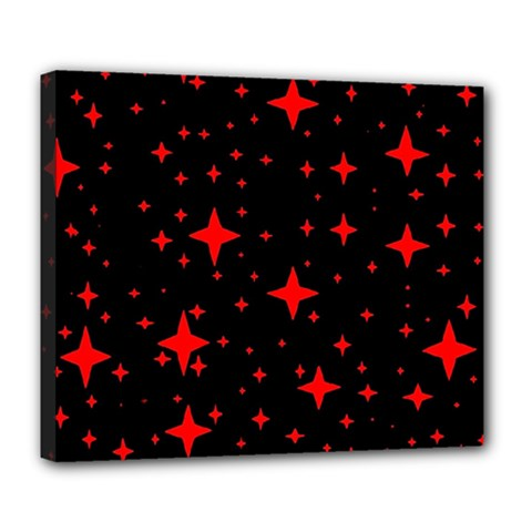 Bright Red Stars In Space Deluxe Canvas 24  X 20