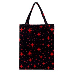 Bright Red Stars In Space Classic Tote Bag