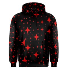 Bright Red Stars In Space Men s Pullover Hoodie