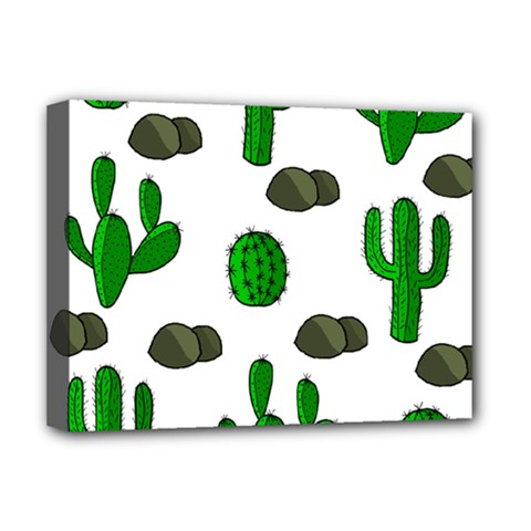 Cactuses 3 Deluxe Canvas 16  X 12   by Valentinaart