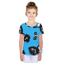 Cute Face Dog Funny Detective Kids  One Piece Tee by AnjaniArt