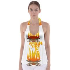 Fire Babydoll Tankini Top