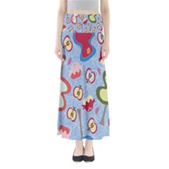 Fruit Apple Maxi Skirts by AnjaniArt