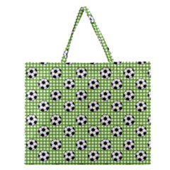 Green Ball Zipper Large Tote Bag by AnjaniArt