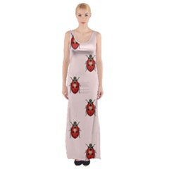 Insect Animals Cute Maxi Thigh Split Dress by AnjaniArt