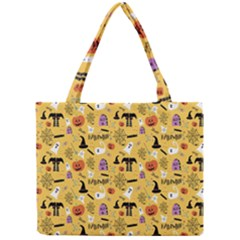 Halloween Pattern Mini Tote Bag by AnjaniArt