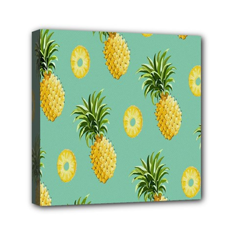 Pineapple Mini Canvas 6  X 6  by AnjaniArt