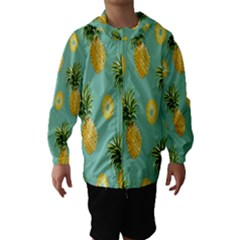Pineapple Hooded Wind Breaker (Kids) by AnjaniArt