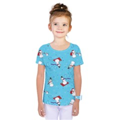 Snowman Kids  One Piece Tee by AnjaniArt