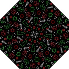 Green And  Red Xmas Pattern Golf Umbrellas by Valentinaart
