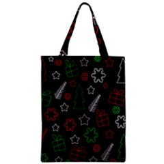 Green And  Red Xmas Pattern Zipper Classic Tote Bag by Valentinaart