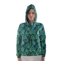 Tropical Plantation Pattern2 Hooded Wind Breaker (women) by Mishacat