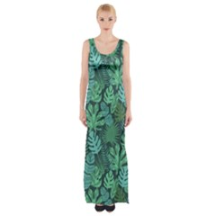 Tropical Plantation Pattern2 Maxi Thigh Split Dress by Mishacat