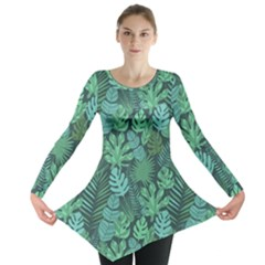 Tropical Plantation Pattern2 Long Sleeve Tunic  by Mishacat