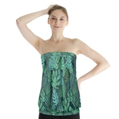 Tropical Plantation Pattern2 Strapless Top by Mishacat