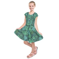 Tropical Plantation Pattern2 Kids  Short Sleeve Dress by Mishacat