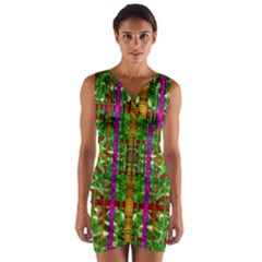 A Gift Given By Love Wrap Front Bodycon Dress