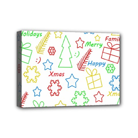 Simple Christmas Pattern Mini Canvas 7  X 5  by Valentinaart