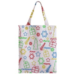 Simple Christmas Pattern Zipper Classic Tote Bag by Valentinaart