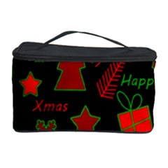 Red And Green Xmas Pattern Cosmetic Storage Case by Valentinaart