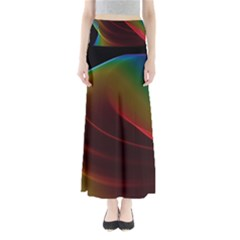 Liquid Rainbow, Abstract Wave Of Cosmic Energy  Maxi Skirts by DianeClancy