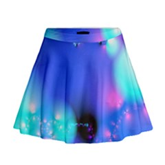 Love In Action, Pink, Purple, Blue Heartbeat 10000x7500 Mini Flare Skirt