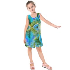 Mystical Spring, Abstract Crystal Renewal Kids  Sleeveless Dress by DianeClancy