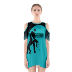 Zouk Blue Moon Shoulder Cutout One Piece