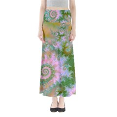 Rose Forest Green, Abstract Swirl Dance Maxi Skirts by DianeClancy