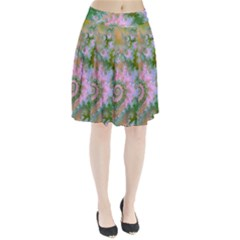 Rose Forest Green, Abstract Swirl Dance Pleated Skirt by DianeClancy