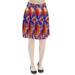 Winter Crystal Palace, Abstract Cosmic Dream (lake 12 15 13) 9900x7400 Smaller Pleated Skirt by DianeClancy