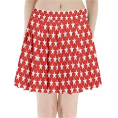 Star Christmas Advent Structure Pleated Mini Skirt by Zeze