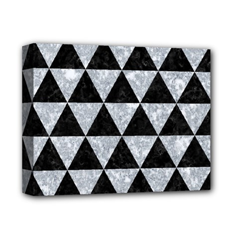 Triangle3 Black Marble & Gray Marble Deluxe Canvas 14  X 11  (stretched) by trendistuff