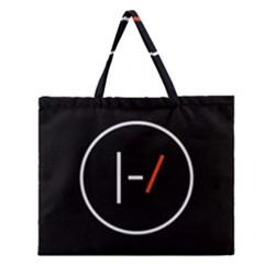 Twenty One Pilots Band Logo Zipper Large Tote Bag by Onesevenart