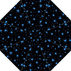 Bright Blue  Stars In Space Golf Umbrellas by Costasonlineshop