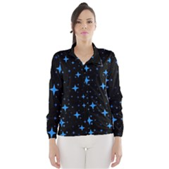 Bright Blue  Stars In Space Wind Breaker (women)