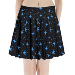 Bright Blue  Stars In Space Pleated Mini Skirt by Costasonlineshop