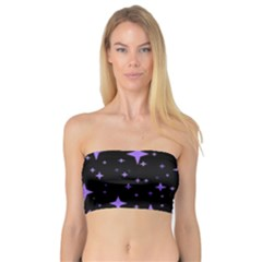 Bright Purple   Stars In Space Bandeau Top