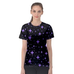 Bright Purple   Stars In Space Women s Sport Mesh Tee by Costasonlineshop
