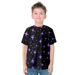 Bright Purple   Stars In Space Kids  Cotton Tee by Costasonlineshop