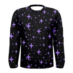 Bright Purple   Stars In Space Men s Long Sleeve Tee by Costasonlineshop