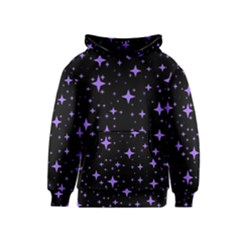 Bright Purple   Stars In Space Kids  Pullover Hoodie