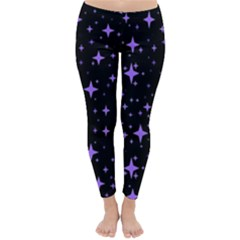 Bright Purple   Stars In Space Classic Winter Leggings by Costasonlineshop